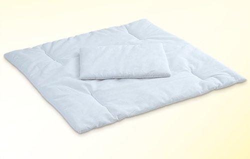 Baby Bettdecke / Kissen für Stubenwagen Beistellbetten Wiegen Kinderwagen 80x80