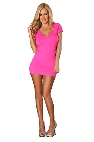 provozierend PR4560klein/mittel pink Slim Line Design mit Rückseite Cut Out Strap Detail Sexy Kleid