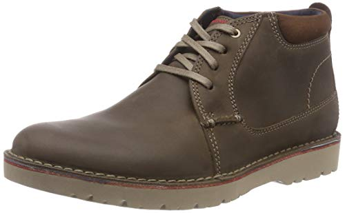 Clarks Vargo Mid Scarpe stringate derby Uomo, Marrone (Olive Leather), 48 EU