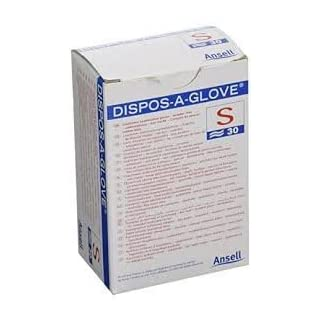 Ansell Dispos-A-Glove Latex Free examination gloves x 30 - SMALL