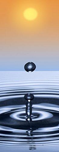 """Infrarotheizung Glas rahmenlos mit Bild, 250 Watt - lang, Motiv """"Wassertropfen"""""""