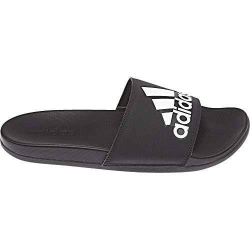 Adidas adilette cf+ mono - scarpe da spiaggia e piscina uomo, nero (cblack/cblack/ftwwht cg3425), 47 eu