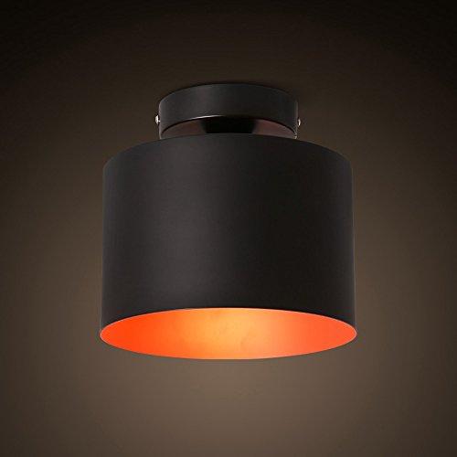 Mini Eisen Deckenleuchten, Nordic schwarz LED zylindrische kleine Pendelleuchte Moderne minimalistische Wohnzimmer Studie Hotel Kronleuchter Postmodern Schlafzimmer Gang Deckenleuchte -