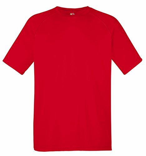 Fruit of the Loom Herren T-Shirt Performance T Red