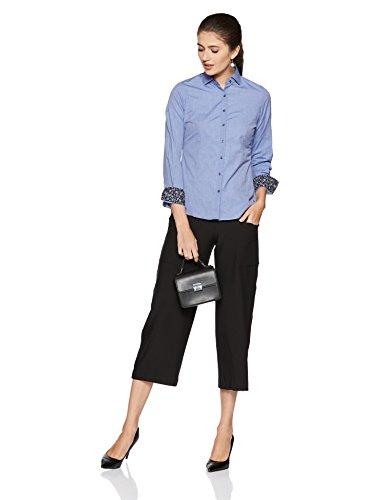 Park Avenue Woman Regular Fit Shirt (PWSX01460-B7_Dark Blue_91)