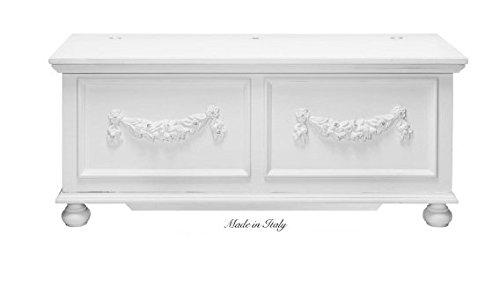 Tavolino in legno stile vintage con fiocco centrale disponibile in diverse rifiniture L'ARTE DI NACCHI 4979/SH
