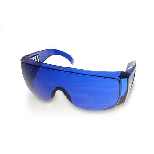 Golf Ball Finder Lunettes Surligner Blanc Lunettes de soleil Bleu Lentilles