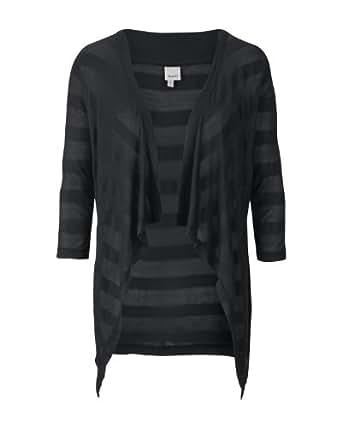 Bench Damen Pullover Strickjacke Shapelover schwarz (black) Medium