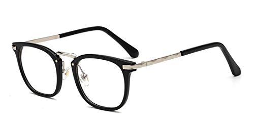 Alittle Brille ohne sehstärke Unisex für Frauen und Männer Clear Fashion schmal Rahmen Strahlenschutz UV Schutz Brillenetui