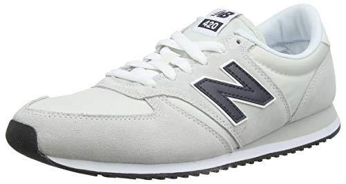 New Balance Unisex-Erwachsene 420 Sneaker, Weiß (Nimbus Cloud/Outerspace Mnc), 42.5 EU (Weißen Leder New Balance Schuhe)