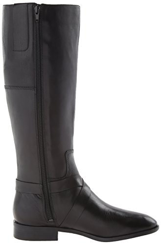 Nine West Blogger Rund Leder Mode-Knie hoch Stiefel Black