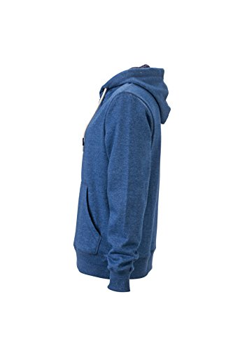 James & Nicholson Herren Hoody Sweatshirt Blau (Light-Denim-Melange)