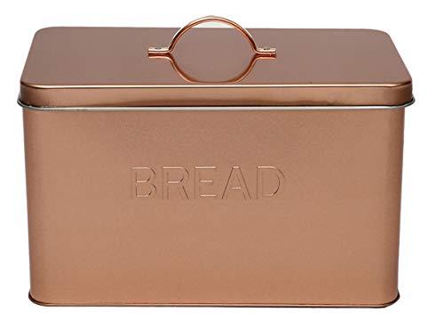 Panera de metal para almacenamiento de pan, latas de almacenamiento - tapas ajustadas - ahorro de espacio...