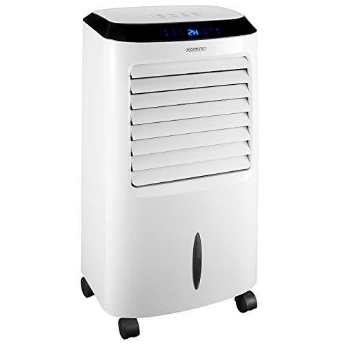 Monzana Mobiles Klimagerät 4in1 | Fernbedienung 10 L Tank LED Timer | Ventilator Klimaanlage Ionisator Luftbefeuchter Luftkühler