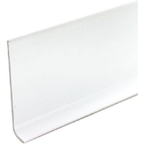 4' Base (M D BUILDING PRODUCTS 4-Inch x 4-Ft. Snow White Vinyl Wall Base)