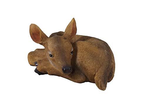 REH Rehkitz Hirsch Elch Rentier Deko Garten Tier Figur Gartendeko Kitz Hirschkuh (Schaf Oder Ziege Figur)
