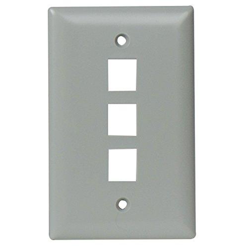 on-q wp3403gy 3Port Contractor Single Gang-, grau Gang Wall Plate 3 Port