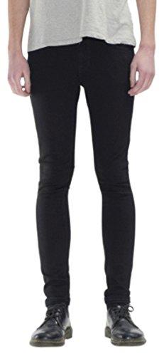Nudie Jeans Skinny Lin, Jeans Mixte noir/noir