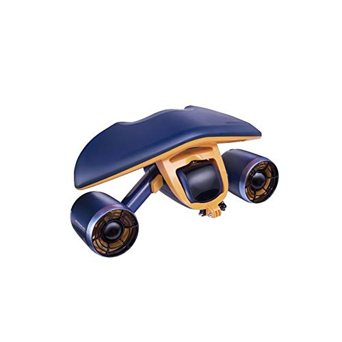 GGCLB Mix Underwater Booster Unisex Submersible Electric Scooter Underwater Swimming Diving Attrezzatura per Lo Snorkeling,Blue
