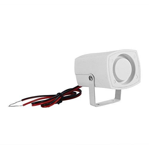 Alarm kabelgebunden Elektronische Sirene kabellos Bewegungsmelder mini Starke Horn für Alarmanlage Sicherheit für Haus mit Halterung 110dB, DC 12V