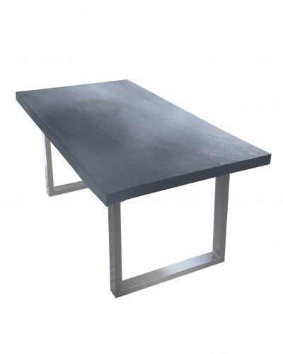 Table 160 x 85 cm, plateau MDF avec armature Ciment, acier