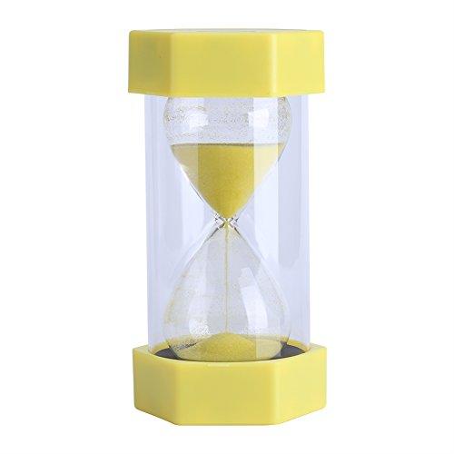 Sanduhr 3/10/20/30/60Minuten - für Heim, Büro oder als Deko, Geschenk 3 minutes yellow