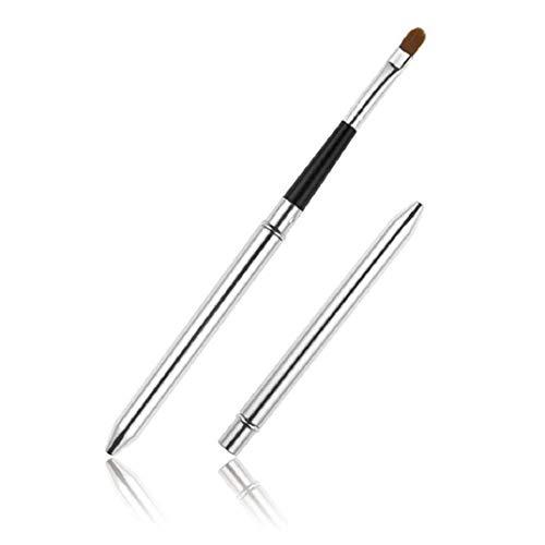 ICHQ Leichte, tragbare Aluminium-Tube-Lippenpinsel Make-up-Pinsel Ausziehbarer Lippenpinsel Augenbraue-Pinsel (A)