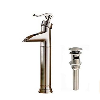Senlesen Waterfall Bathroom Faucet Brushed Nickel Single Handle Single Hole
