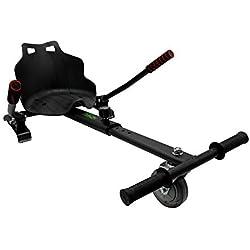 Hiboy-Asiento Kart para Patinete Eléctrico, Silla de Hoverboard Self Balancing Compatible con Todos los Patinetes Eléctricos de 6.5, 8 y 10 Pulgadas, Negro