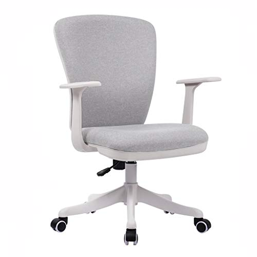 TXDZYB Bürostuhl Computer Stuhl Haushalt Stoff Freizeit Drehstuhl weiß 011
