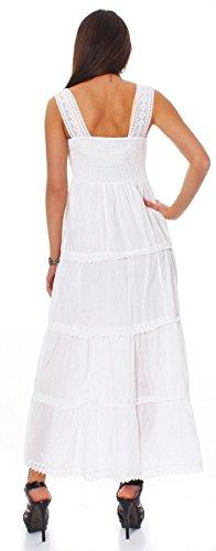 Fashion4Young - Robe - Femme blanc weiss. 36 Weiß