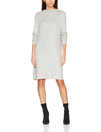 ONLY Damen Kleid Onlkleo L/S Dress Knt Noos, Grau (Light Grey Melange), 34 (Herstellergröße: XS)