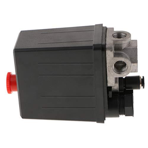 FLAMEER 4,0-12,5 PSI Kompressor Luftdruckschalter für Lufthörner Steuerventil Stecker - Schwarz 1