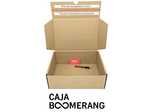 Caja de Cartón para Envíos (Caja Doble Envío) de 35 x 25 x 13 cm (Paquete de 10 Cajas) - Color Marrón. Permite Hacer Dos Envíos en Uno. Mudanzas. Fabricadas en España. Normativa AFCO. Cajeando