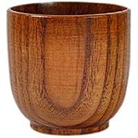 favourall Holzbecher Becher Holz kaffeetasse trinkbecher, kaffeebecher Holz Mit Griff, Jujube Holz, Saft Bierkrug Geeignet für Familien, Restaurants, Büros