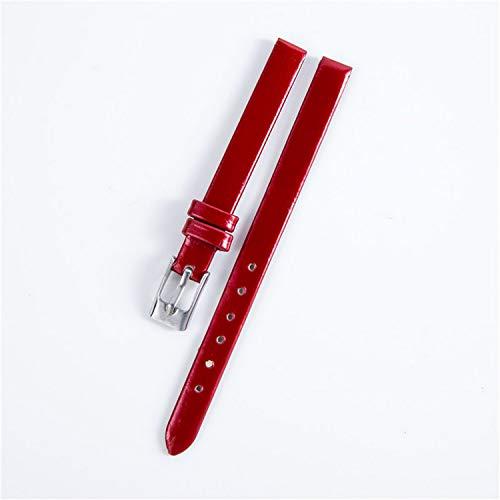 Mode Damen Mädchen Genitalsit-Watchstrap-Lins103 Multi-Farben Damenuhren Plain Kunstleder Armband Ersatz 8mm Armbanduhr Band Strap
