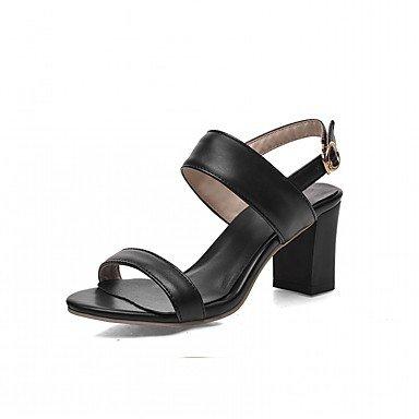 LvYuan Da donna Sandali Finta pelle PU (Poliuretano) Estate Autunno Footing Fibbia Quadrato Bianco Nero Viola 2,5 - 4,5 cm Black