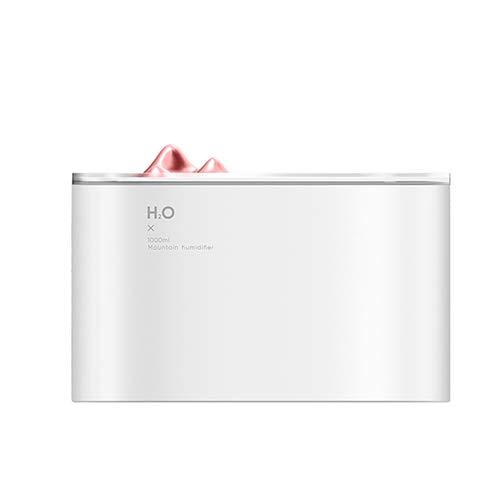 HHCC Aroma Aceite Esencial 1L difusores, Doble Spray silencioso ultrasónico Aroma humidificador (Uso 24H) 7 Color LED luz de Noche para hogar Dormitorio baño Yoga SPA