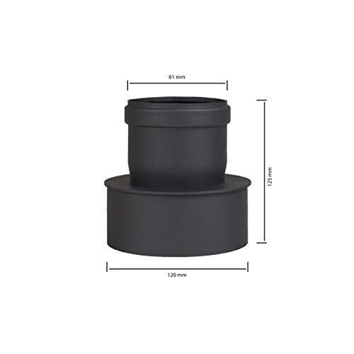 Pellet Tubo estufa de pellets codo para tubo de chimenea Ampliación de...