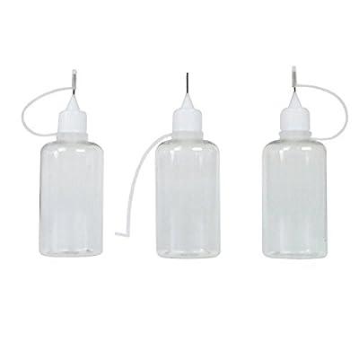 3 Stück Nadelflaschen aus PE (Nadelcap / frei von Schadstoffen) je 50 ml zum befüllen und mischen von E-Liquid für elektrische Zigaretten (hergestellt für online-konglomerat) von baolifeng