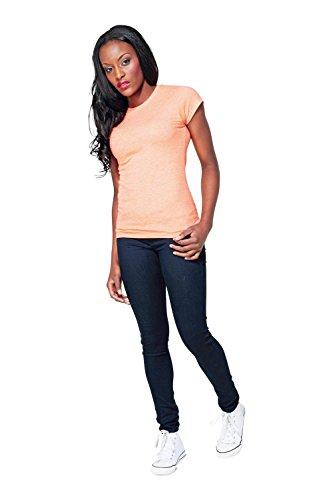 Frauen gesponnene Kurzarm T-Shirt von B & C - 30 Farben verfügbar Navy