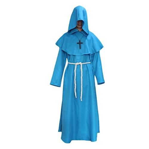 Morza Kapuzenrobe Uhr Mittelalterliche Monks Robe Wizard Pastor Christen Kleid ()