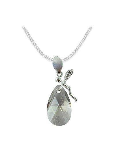 *ALMOND* *MANDEL* Elf Stil Swarovski Elements - Farbe *Silver Shade* Schön Damen Halskette - Anhänger Halskette Schmuck Mutter Geschenk mit Kristallen von Swarovski -