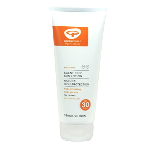 Green People - Sun Care - Scent Free Sun Lotion SPF 30 Natural HIgh Protection - 200ml (Case of 6) - Green People Sun Care