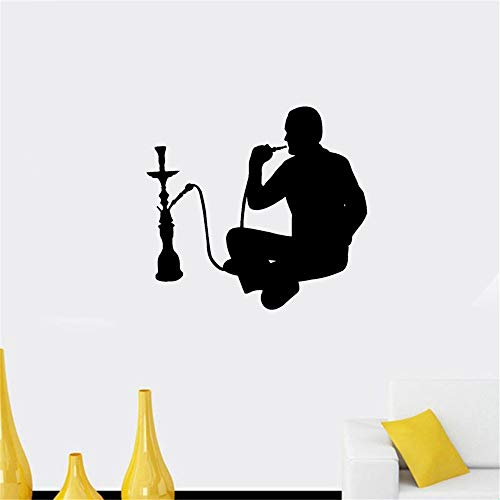 wandaufkleber 3d Wandtattoo Schlafzimmer Shisha Smoking Arabic Cafe Shisha Aufkleber für Musik Pub Bar