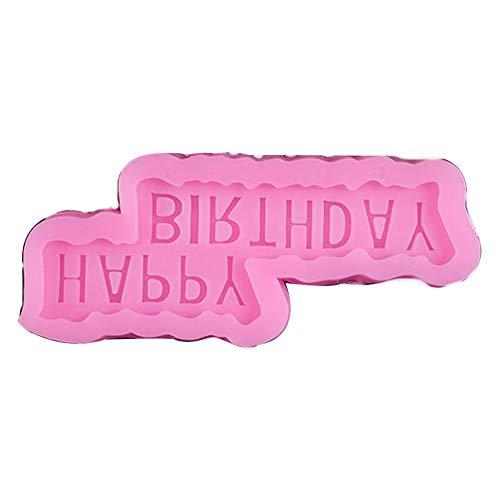 Rocita Backform für die Torte des glücklichen Geburtstags aus Silikon Zuckerpaste zum Backen von Branchekuchen für Schokolade Jalea Dessert Flan Form #04 für Ihr Zuhause