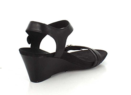 Vionic Womens 382 Laurie Leather Sandals Noir