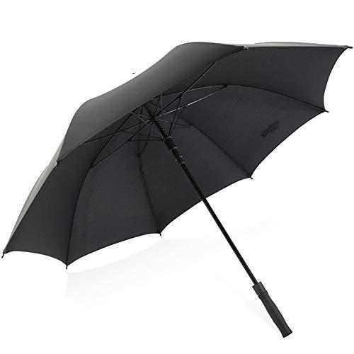 Golf Umbrella Wide Double Canopy Ventilation Automatic Opening Super Large Super Waterproof Sunscreen Regenschutz wetterfest Umbrella Black Red Blue,Black