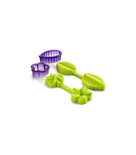 Ibili 789100 - Molde 3D Flor+Hoja 100% silicona + cortapastas