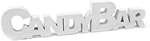 Holzdeko Candybar, weiß, 27 x 6 x 1,5 cm Holz Candy